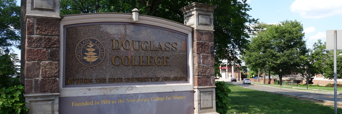 Douglass College Sign